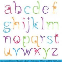 Typeface clipart girly