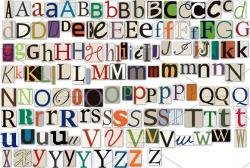 Lettering clipart magazine clipping