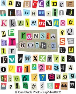Lettering clipart ransom note