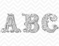 Lettering clipart victorian