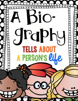 Covered clipart biography book