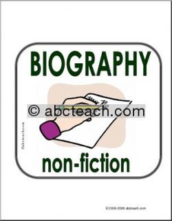 Library clipart biography