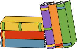 Library clipart book pile
