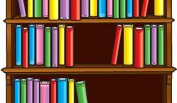 Bookcase clipart kid book