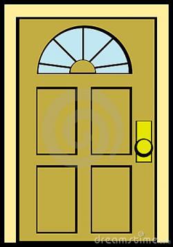 Doorway clipart wood door