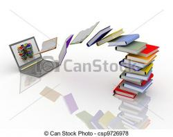 Library clipart digital library