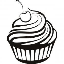Sketch clipart cupcake