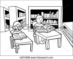 Library clipart drawing