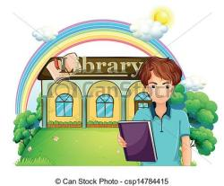 Library clipart front