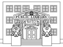 Library clipart library building