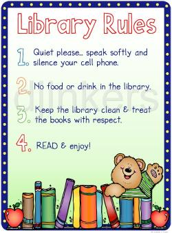 Library clipart library rule