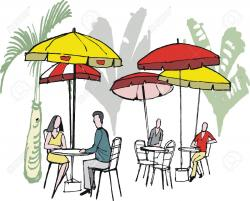 Restaurant clipart outdoor cafe
