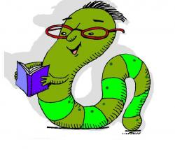 Worm clipart reading corner