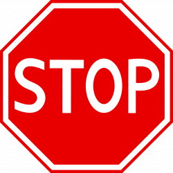 Stop clipart stop sign