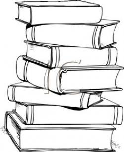 Book clipart stacked