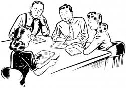 Meeting clipart staff room