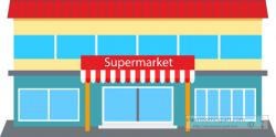 Market clipart grocery store building