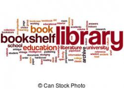 Library clipart the word