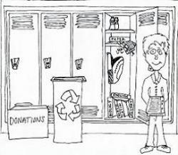 Hallway clipart school locker