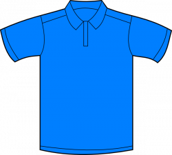 Light Blue clipart polo shirt