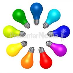 Colorful clipart light bulb