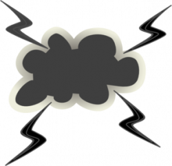 Lightening clipart angry cloud