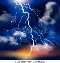 Lightening clipart background
