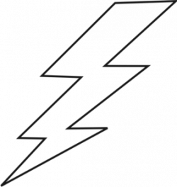 Lightening clipart black and white