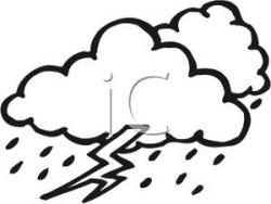 Thunderstorm clipart black and white
