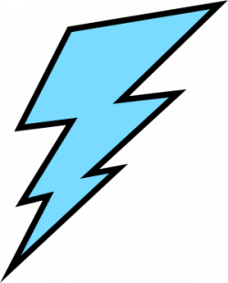 Lightening clipart blue lightning