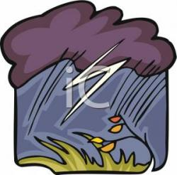 Thunder clipart stormy weather