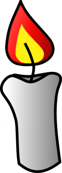 Melting Candle clipart burned
