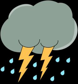 Thunder clipart rain cloud