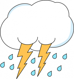 Lightening clipart rain cloud