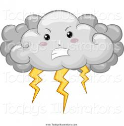 Lightening clipart storm cloud