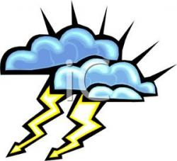 Lightening clipart stormy weather