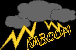 Thunder clipart kaboom