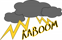 Thunderstorm clipart kaboom