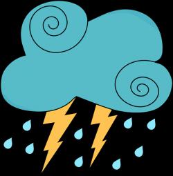 Thunderstorm clipart rain cloud