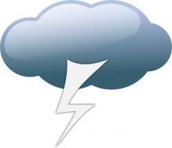 Lightening clipart weather symbol
