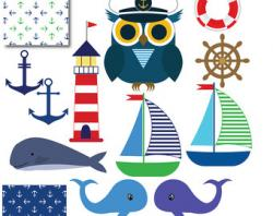 Lighthouse clipart anchor