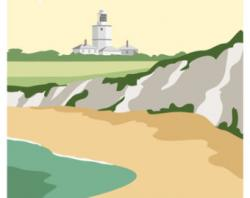Lighthouse clipart art deco