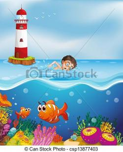 Lighthouse clipart beach swimming