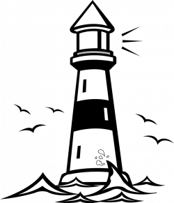 Lighthouse clipart cartoon