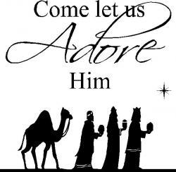 Merry Christmas clipart nativity scene