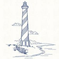 Drawn lighhouse cape hatteras lighthouse