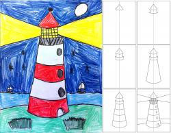 Drawn lighhouse color
