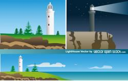 Lighthouse clipart landscape