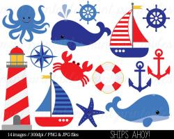 Anchor clipart nautical theme