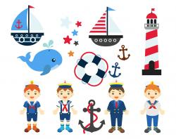 Lighthouse clipart sailboat